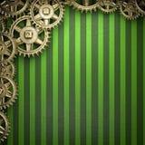 Gear wheels on green Stock Image