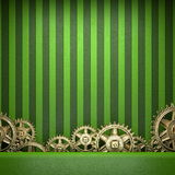 Gear wheels on green background Royalty Free Stock Photography