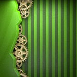 Gear wheels on green background Stock Photos