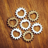 Gear wheels with heart symbol Royalty Free Stock Image