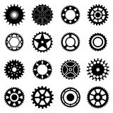 Gear wheels icons set Royalty Free Stock Photo