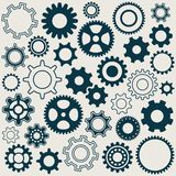 Gear wheels icons Stock Image