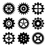 Gear wheels isolated on white background Stock Images