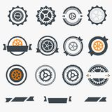 Gear wheels labels Royalty Free Stock Photo