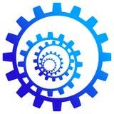 Gear wheels logo royalty free illustration