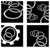 Gear wheels logo set royalty free illustration