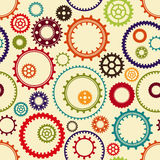 Gear wheels pattern Stock Image