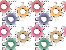 Gear wheels pattern Stock Photography