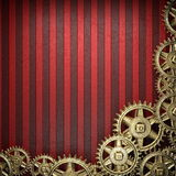 Gear wheels on red background Royalty Free Stock Image