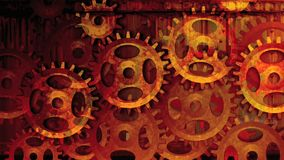 Gear wheels red