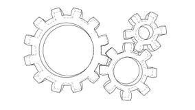Gear wheels rotating. Seamless loop stock video footage