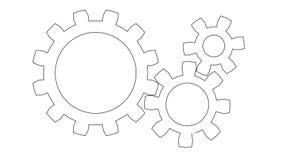 Gear wheels rotating. Seamless loop