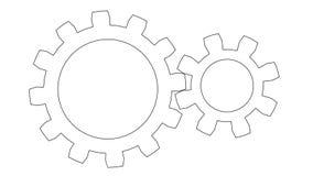 Gear wheels rotating. Seamless loop stock footage