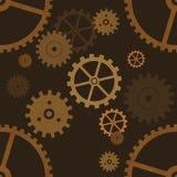 Gear wheels seamless pattern stock photography