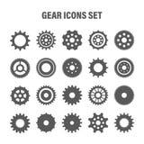 Gear wheels set. Retro vintage cogwheels collection. Industrial icons. Vector illustration.  vector illustration