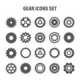 Gear wheels set. Retro vintage cogwheels collection. Industrial icons. Vector illustration.  stock illustration