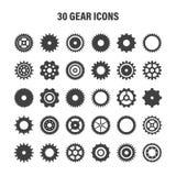 Gear wheels set. Retro vintage cogwheels collection. Industrial icons. Vector illustration.  royalty free illustration