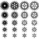 Gear wheels shapes Royalty Free Stock Image