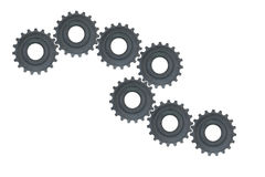 Gear wheels system Royalty Free Stock Photos