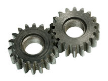 Gear wheels system Stock Image