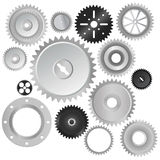 Gear wheels vector. Set of gear wheels vector Stock Photography