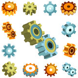 Gear wheels vector Royalty Free Stock Photo