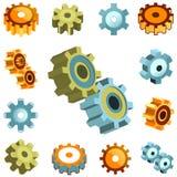 Gear wheels vector. Set of gear wheels vector Royalty Free Stock Photo