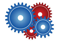 Gear wheels - vector Stock Photos