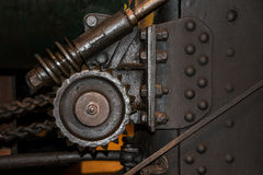 Gear wheels. Vintage steering gear wheels on traction engine Stock Image