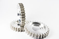 Gear-wheels on white Royalty Free Stock Photography