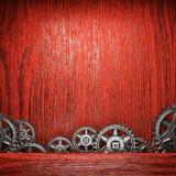 Gear wheels on wood. En background Stock Photography