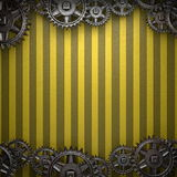 Gear wheels on yellow Royalty Free Stock Photography