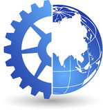 Gear world logo Stock Photo