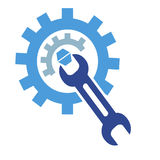 The gear wrench logo Royalty Free Stock Image