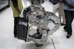 Gearbox chrome. Dubai, UAE - NOVEMBER-14-2011: gearbox on display at the Dubai Motor Show, UAE Stock Photos
