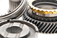 Gearbox części odizolowywać na białym tle. Fotografia Stock