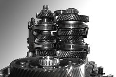 Gearbox. Geared transmission of an automotive gearbox Royalty Free Stock Photo