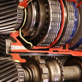Gearbox inside. Close-up,education photo royalty free stock photography