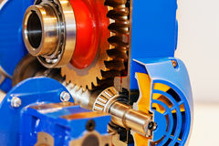 Gearbox on large electric motor Royalty Free Stock Images