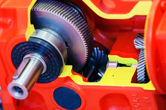 Gearbox on large electric motor Stock Photography