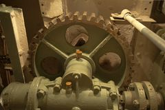 Gearbox with large gear wheel Royalty Free Stock Photo