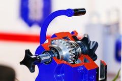 Gearbox na wielkim elektrycznym silniku Fotografia Stock