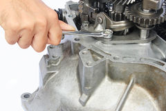 Gearbox repair Stock Photo