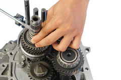 Gearbox service. On isolated white background royalty free stock photo