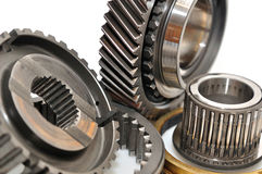Gearbox sprockets. Car gearbox sprocket isolated on white background royalty free stock photography