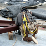 Geared-up ironworker Stock Photos