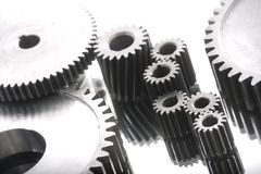 Gearing. Large gears and bearings on display royalty free stock photography