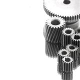 Gearing. Large gears and bearings on display royalty free stock images