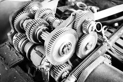 Gearing of the drive mechanism Stock Photo