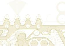 Gearline-Entwurf Stockfotos
